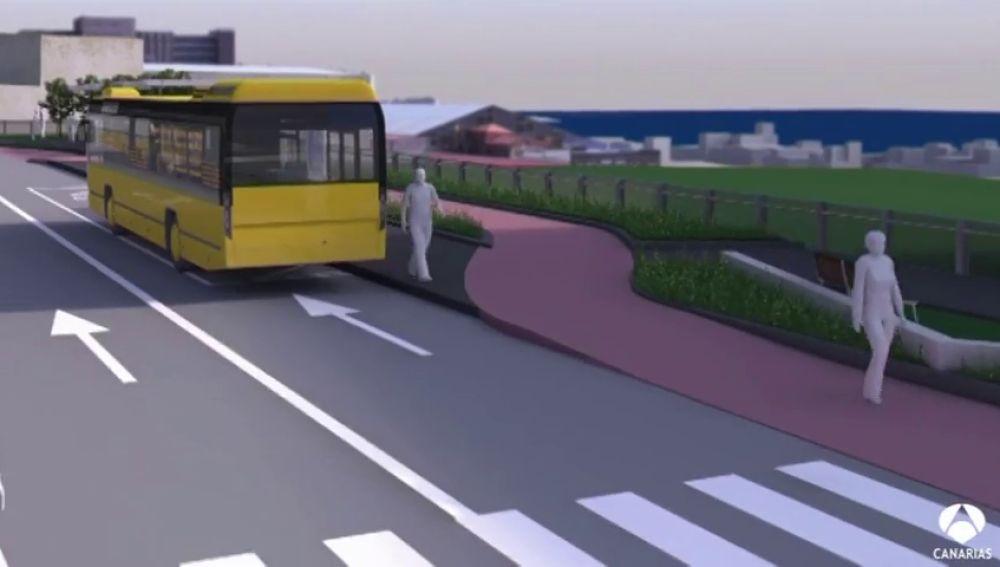La metroguagua tendrá un intercambiador con zonas verdes y de ocio