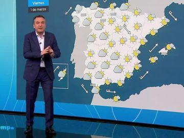 Bajan las temperaturas en el Mediterráneo y se mantienen en el resto