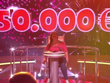 Raquel gana 50.000 euros en 'Juego de juegos'