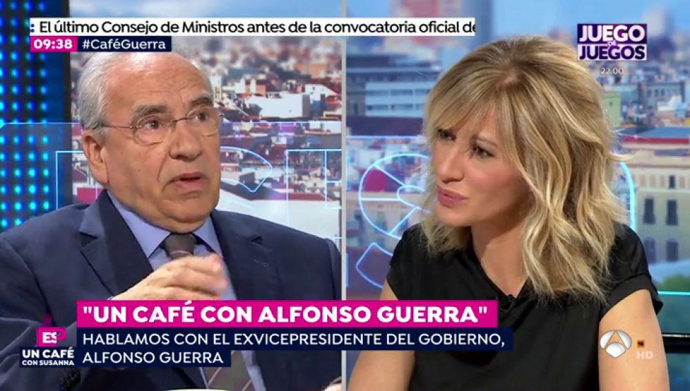 Alfonso Guerra y Susanna Griso.