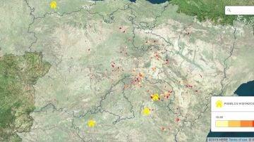 Mapa interactivo: Los pueblos menos habitados de España
