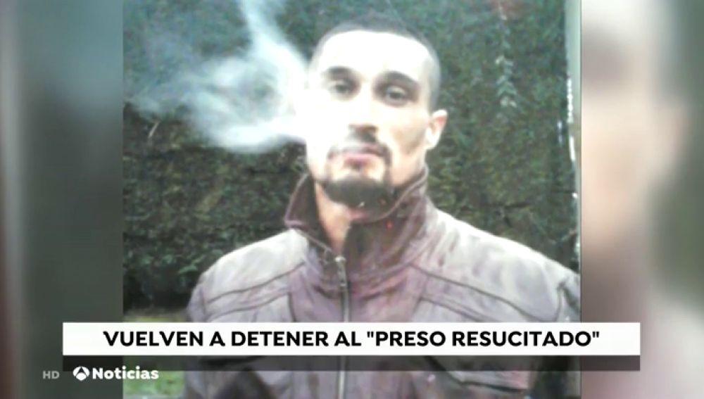 El preso que 'resucitó' en la cárcel, detenido por robo con fuerza