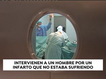 Intervienen de urgencia a un hombre por un infarto que no sufría