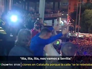 """Fiestón del Valencia tras alcanzar la final de Copa del Rey: """"¡Illa, illa, illa, nos vamos a Sevilla!"""""""