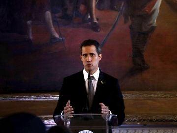 El líder del Parlamento venezolano, Juan Guaidó