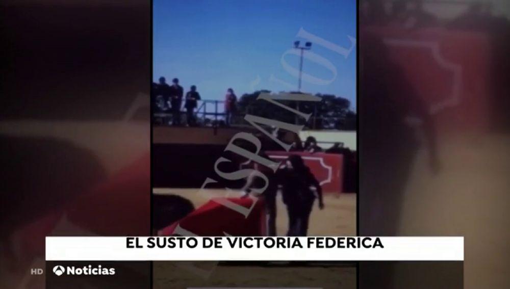 El susto de Victoria Federica al ser embestida por una vaquilla