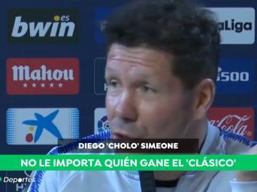 """Simeone: """"¿El Clásico? Lo que le interesa al aficionado del Atlético es que gane el Atlético"""""""