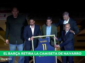 """El emotivo homenaje del Barcelona Lassa a Juan Carlos Navarro: """"Os echaré de menos"""""""