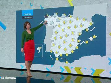 El domingo, lluvias y vientos fuertes en Galicia y Cordillera Cantábrica