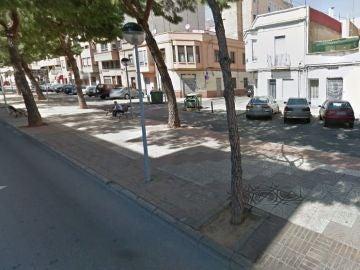 La calle en la que ocurrió la pelea
