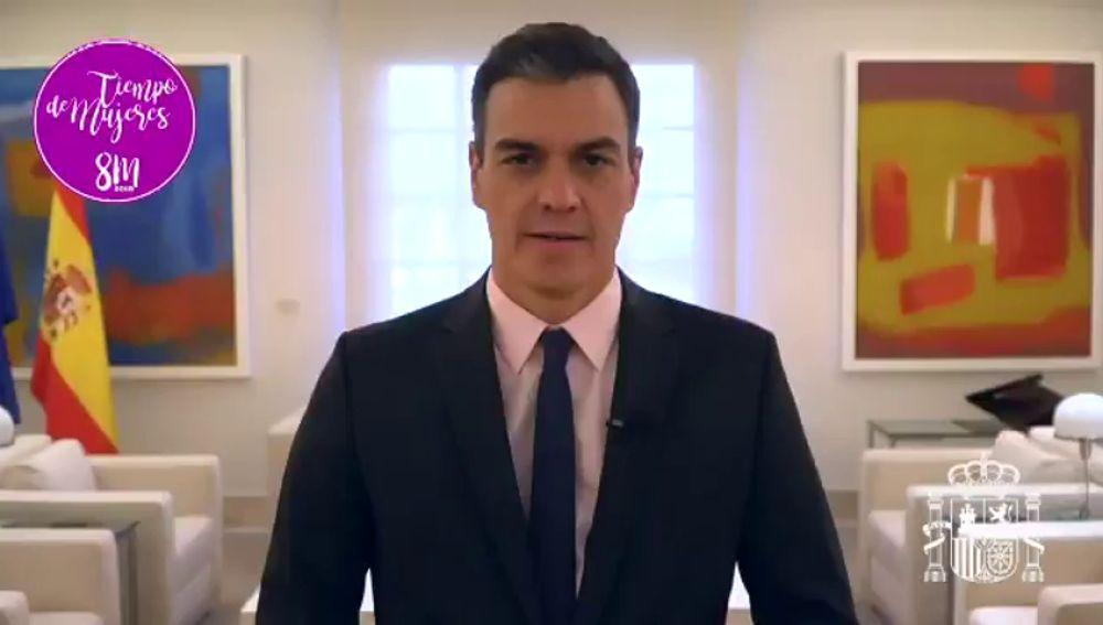 """Sánchez reivindica que """"es tiempo de mujeres"""" frente a quienes quieren """"arrebatar"""" sus derechos"""