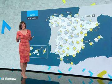 El lunes, descenso de temperaturas en gran parte de la Península