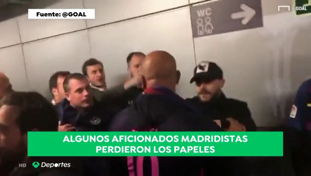 La peor imagen del Clásico: algunos aficionados del Madrid perdieron los papeles