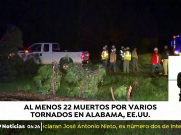 Al menos 22 muertos y 40 heridos en Alabama por el paso de varios tornados