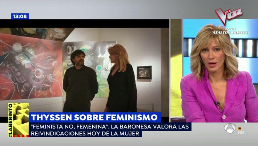 """Susanna Griso se indigna con la baronesa Thyssen: """"Es tan triste que tengamos que escuchar estas cosas"""""""