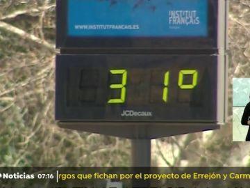 Los termómetros alcanzan los 31 grados en Valencia.