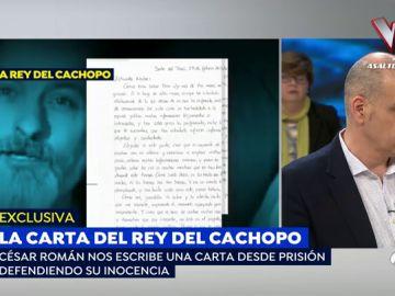 La carta de César Román a Nacho Abad.