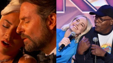 Brie Larson y Samuel L. Jackson imitan a Lady Gaga y Bradley Cooper cantando 'Shallow'