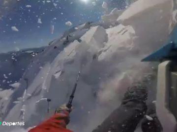 La escalofriante avalancha que sorprendió a tres esquiadores en Baqueira
