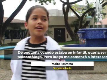 Con 12 años, Maite está preparada para entrar en la Facultad de Medicina