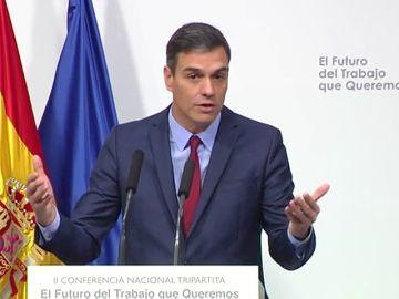 Sánchez promete mejorar la protección social en las nuevas formas de empleo