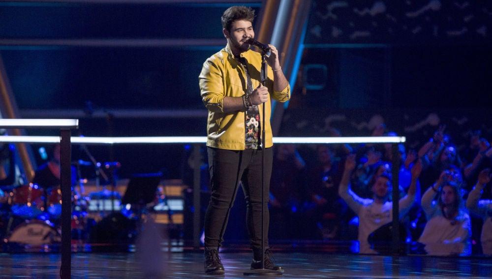 VÍDEO-LA VOZ: Agustín Sánchez canta 'Tu refugio' en los Asaltos de 'La Voz'