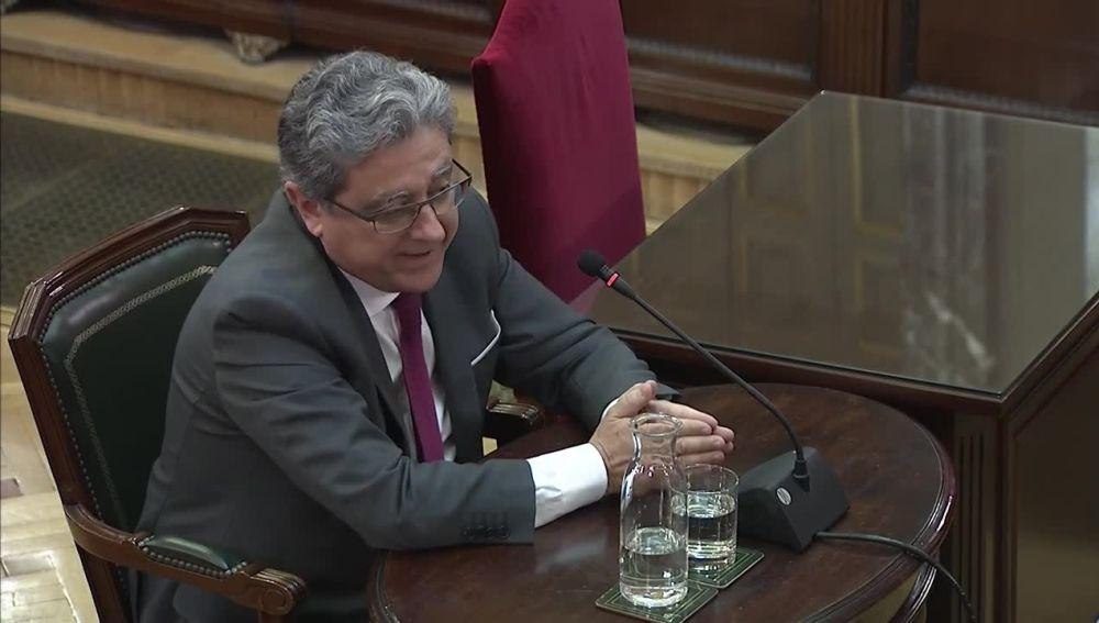 Enric Millo en el juicio al 'procés'