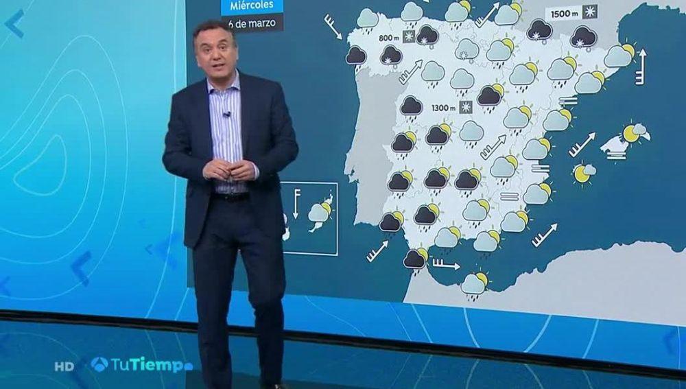 Más lluvias y descenso de las temperaturas en casi toda la Península
