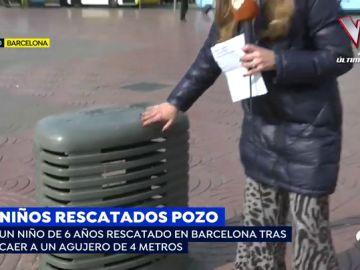 Angustioso rescate de dos niños de 6 y 7 años que cayeron a un agujero en Barcelona y Salamanca