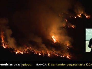 Fuego asturias noche