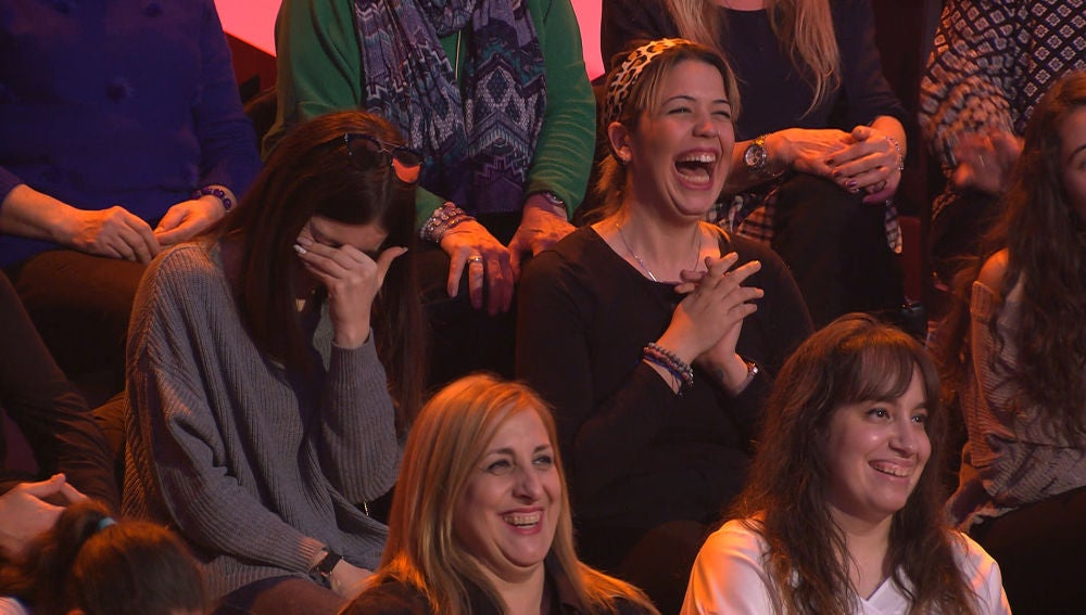 El público de '¡Boom!', eufórico con el equipo rival de 'Los Lobos'