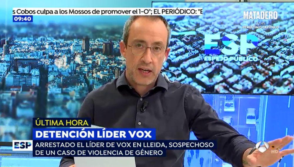 Los Mossos encontraron imágenes comprometidas en el móvil del líder de Vox en Lleida José Antonio Ortiz Cambray