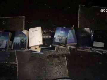 Un incendio devasta una iglesia en Estados Unidos y deja las biblias y las cruces intactas
