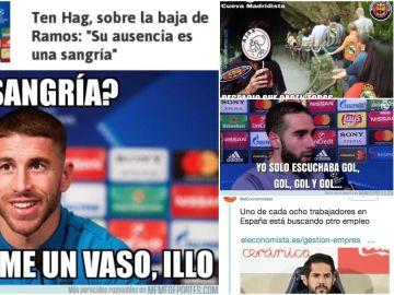 Los memes de la eliminación del Real Madrid ante el Ajax