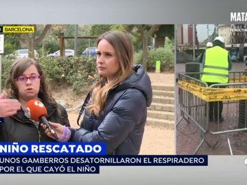 La madre del niño que cayó por un agujero en Barcelona