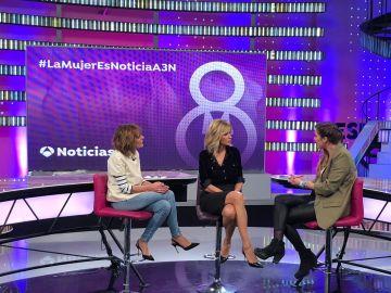 Nuria Donate (izquierda), Susanna Griso y África de Robert.