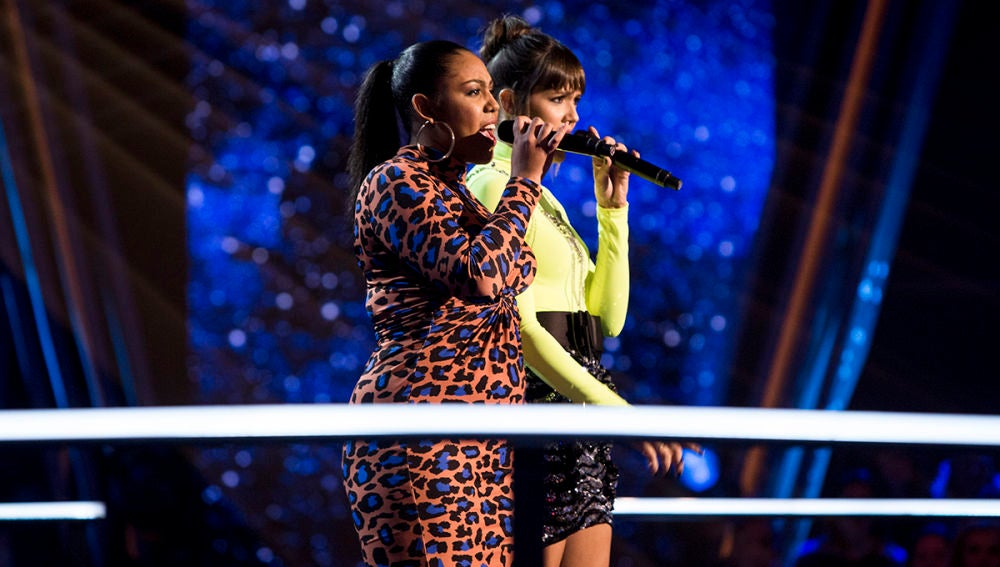 VÍDEO: Beatriz Pérez y Linda Rodrigo cantan 'The way you make me feel' en la Batalla de 'La Voz'