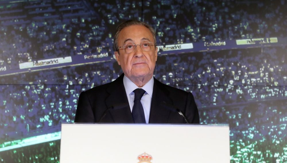 Florentino Pérez en el Bernabeu