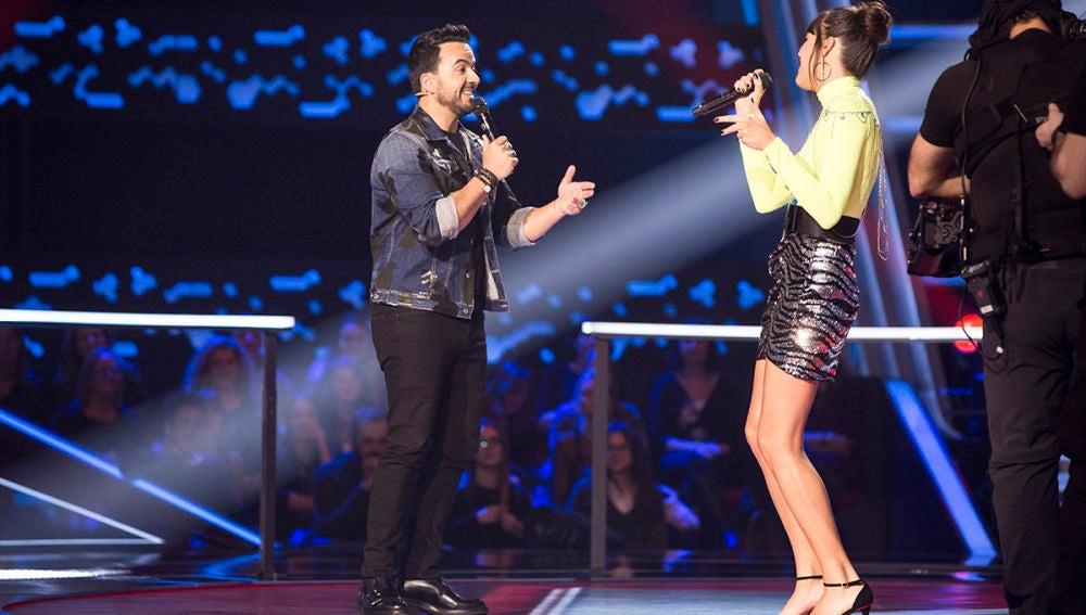 VÍDEO: Beatriz Pérez canta 'Échame la culpa' con Luis Fonsi en su despedida de 'La Voz'