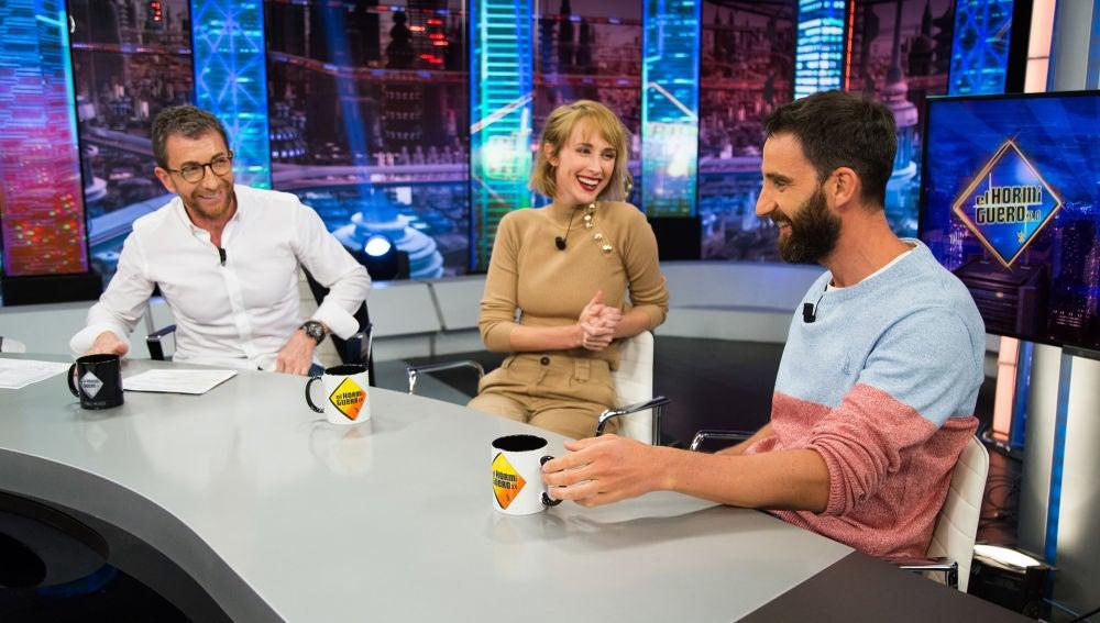"""La divertida confesión de Dani Rovira en 'El Hormiguero 3.0' sobre Ingrid García Jonsson: """"Le molaba el deporte siempre que pudiera estar tumbada"""""""