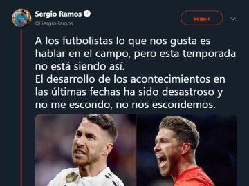 Sergio Ramos responde a las críticas en Twitter