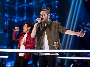 Andrés Martín y Andrés Iwasaki  cantan 'All I Want' en la Batalla de 'La Voz'