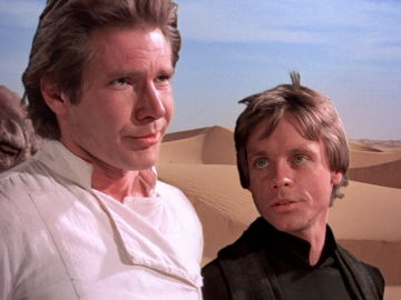 Han Solo y Luke Skywalker en 'Star Wars'