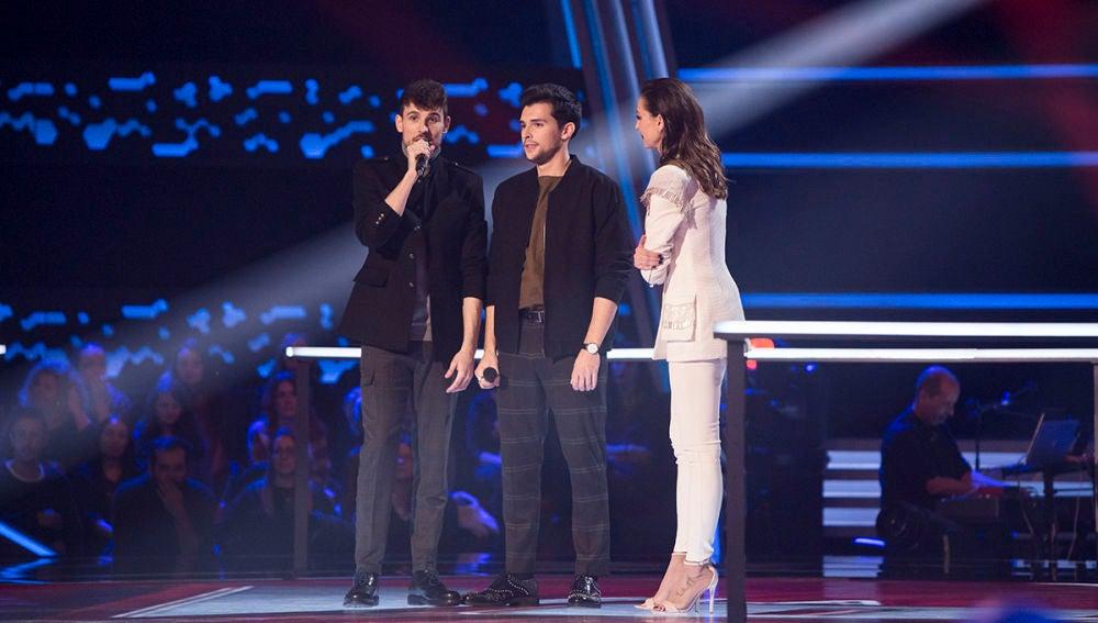 """VÍDEO: El regalo de despedida de Paulina Rubio a Ángel y Leo: """"Os invito a mi casa de Miami para que grabemos juntos una canción"""""""