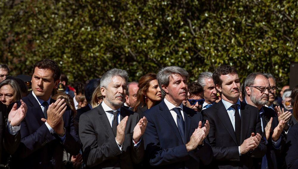 Pablo Casado, Ángel Garrido, Fernando Grande-Marlaska, Albert Rivera