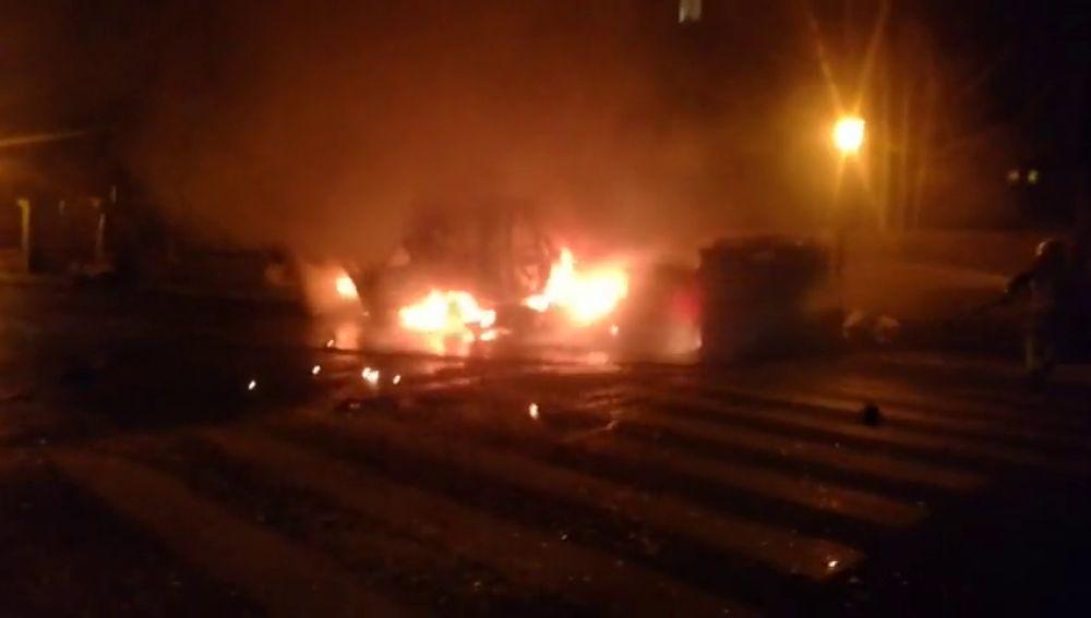 Investigan el inendio de una ambulancia en A Cañiza, Pontevedra