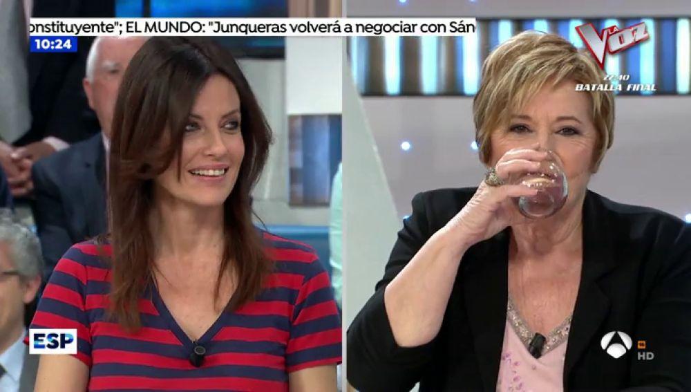 """La bronca de Susanna Griso a Cristina Seguí: """"Te voy e retirar el móvil para que no escribas esos tuits en directo"""""""