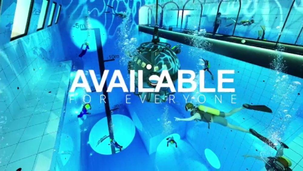 La piscina más profunda del mundo tiene 45 metros de profundidad
