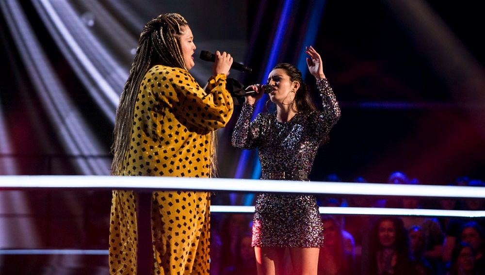 Vídeo: Susana Montaña y Adriana Rosa cantan 'I'll stand by you' en la Batalla