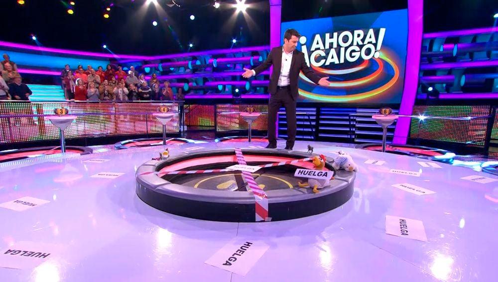 Vicente paraliza '¡Ahora Caigo!' con una huelga